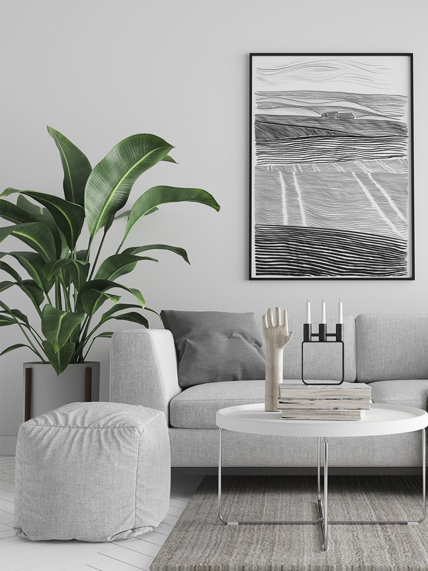 danish-countryside-poster-in-interior-living-room