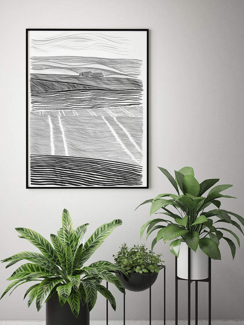 danish-countryside-poster-in-interior
