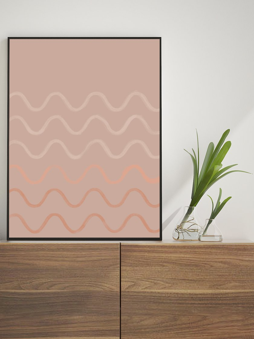 project-nord-crayon-waves-dusty-rose-poster-in-interior
