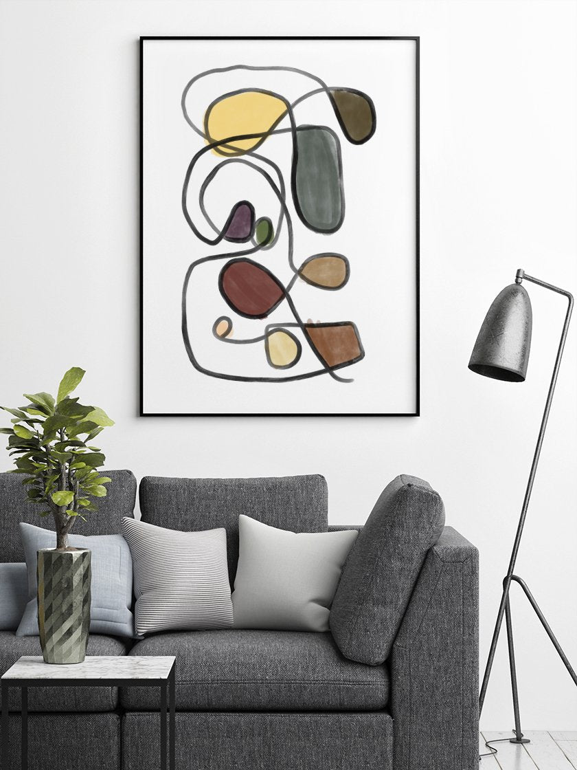 finding-my-way-abstract-colourful-lines-poster-in-interior-living-room