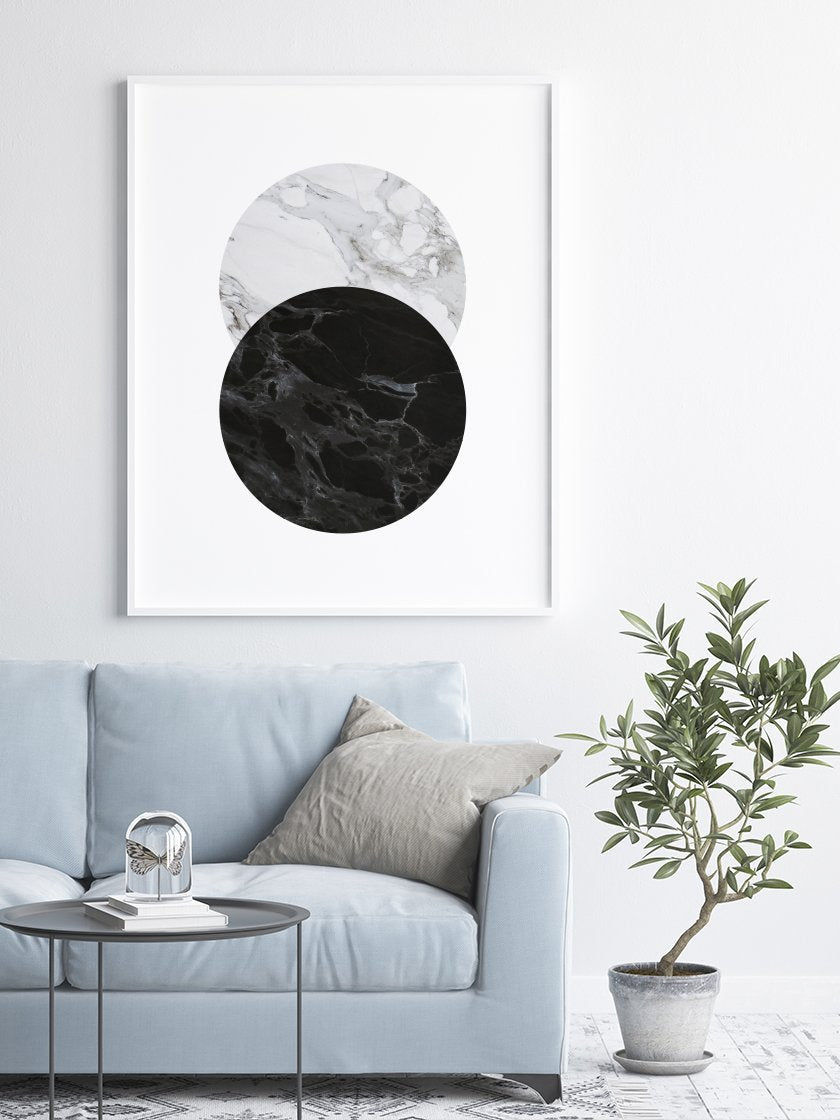 full-moon-marble-poster-in-interior-living-room