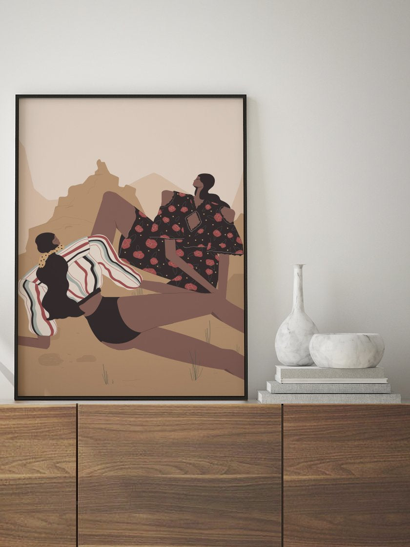 girls,-picnic-in-the-desert-poster-in-interior