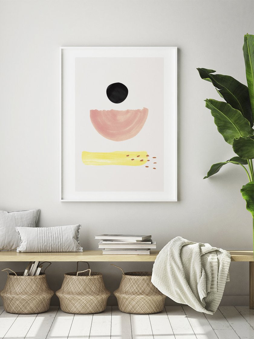 project-nord-la-palma-pastel-abstract-poster-in-interior-hallway