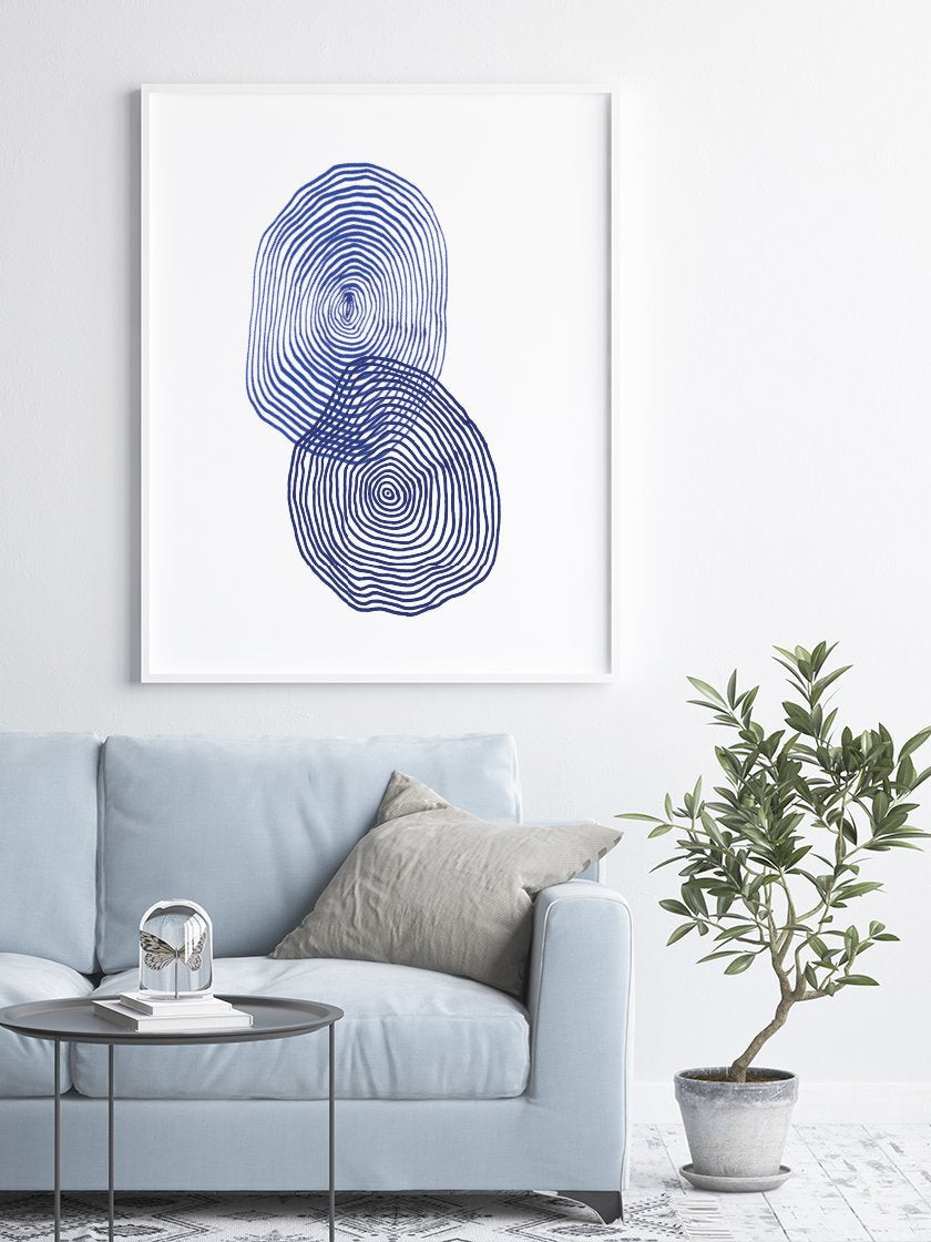project-nord-les-cercles-blue-abstract-poster-interior-living-room