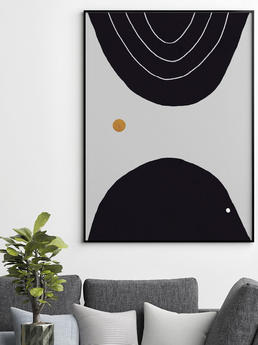 project-nord-meeting-abstract-circles-poster-in-bedroom-in-interior-living-room