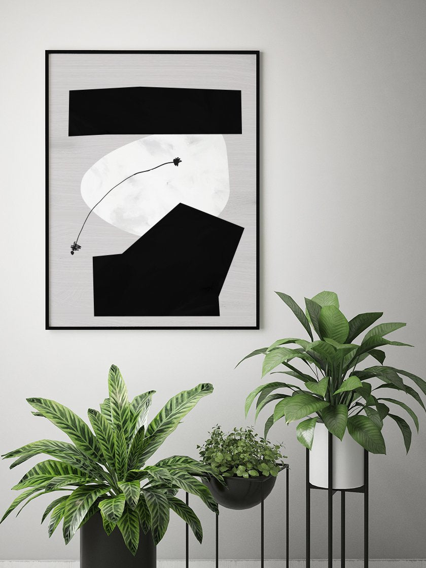 project-nord-moon-phases-poster-in-interior-hallway