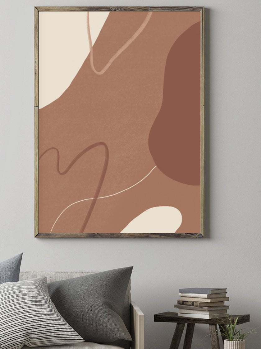 project-nord-autumn-clouds-abstract-terracotta-poster-living-room-interior-design