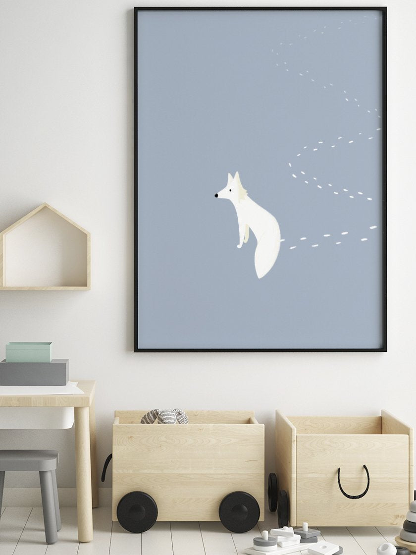 project-nord-the-walking-fox-kids-fox-poster-in-interior-nursery-room