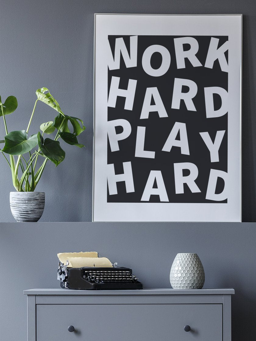 project-nord-work-hard-play-hard-poster-in-interior-hallway