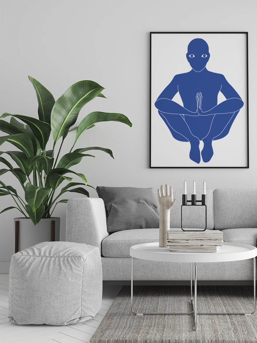 malasana-yoga-pose-poster-in-interior-living-room