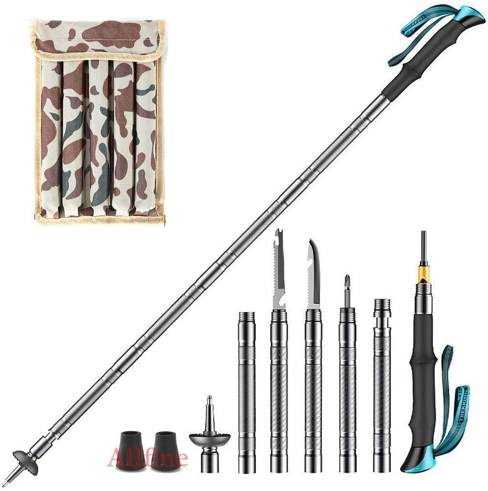 Tactical Walking Stick - Alpenstock - Survival Hiking Pole - Tactical Walking Stick