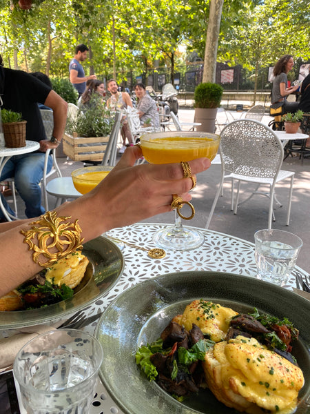 mimosas golden rings and brunch in paris