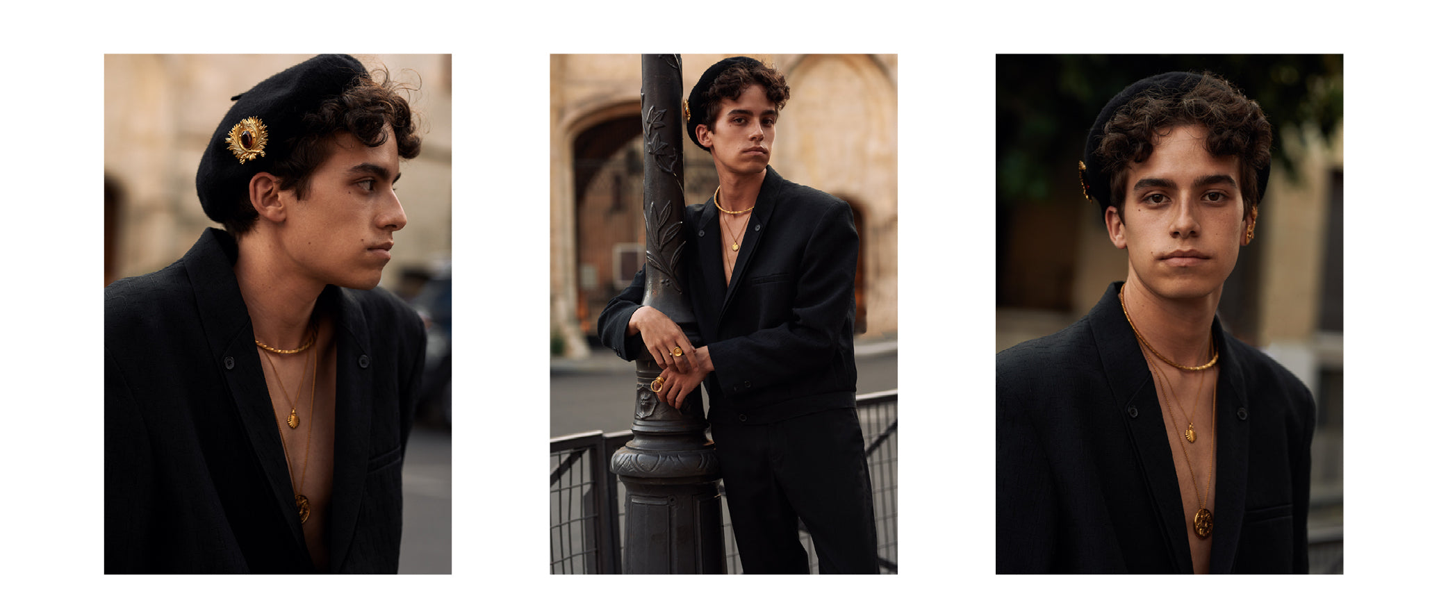 actor model artist Theo Malet jewellery campaign