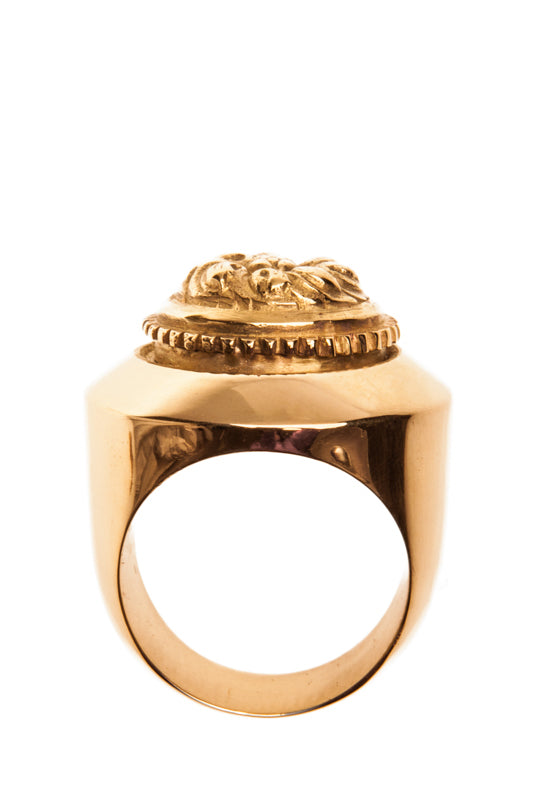 Baroque Rosette Signet Ring