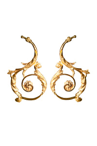 Baroque Acanthus statement earrings