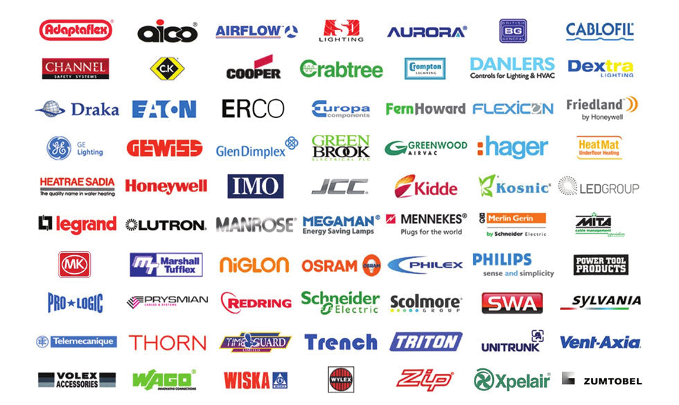 BRANDS THAT WE STOCK INCLUDE…   R & B STAR Electrical Wholesalers