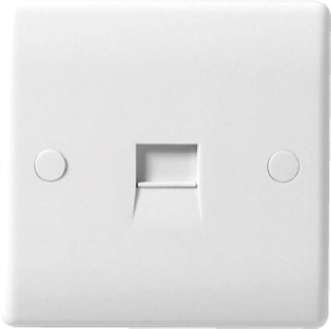BG - 8BTMI/1 -  1 Gang Telephone Socket Master White