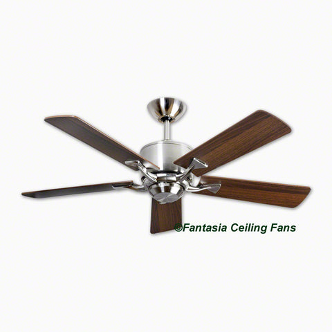 "Elite - 52"" Delta (Low Energy) Brushed Nickel Ceiling fan with Dark Oak Blades"