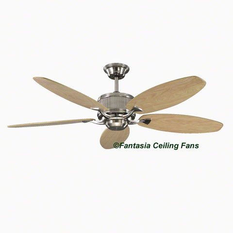 "Elite - 52"" Alpha (Low Energy) Brushed Nickel Ceiling fan with Maple Blades"