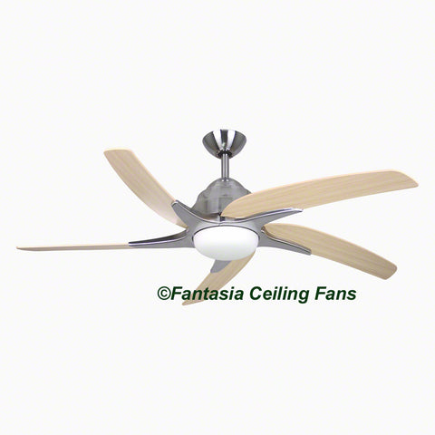 "Elite - 44"" Viper Plus Stainless Steel Ceiling fan with Maple Blades"