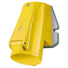 Mennekes 1177 - Yellow 110V Top Entry 16A 3 Pole IP44 Wall Mounted Socket