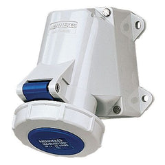 Mennekes 1202 - Blue 230V Top & Bottom Entry 32A 3 Pole IP67 Wall Mounted Socket