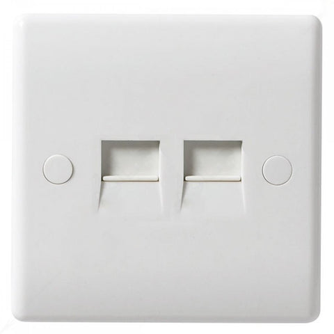 BG - 8BTM/2 -  2 Gang Telephone Socket Master White