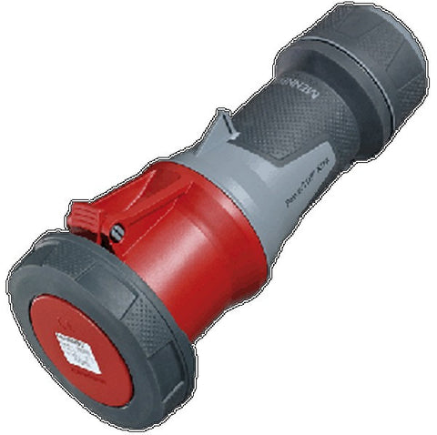 Mennekes 14212 - Red 400v 63A 5 Pole PowerTOP IP67 In-line Connector