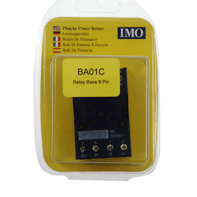 IMO BA01C 8 PIN RELAY BASE