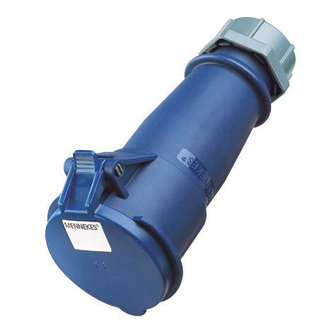 Mennekes 522 - Blue 230V 32A 3 Pole AM-TOP IP44 In-line Connector