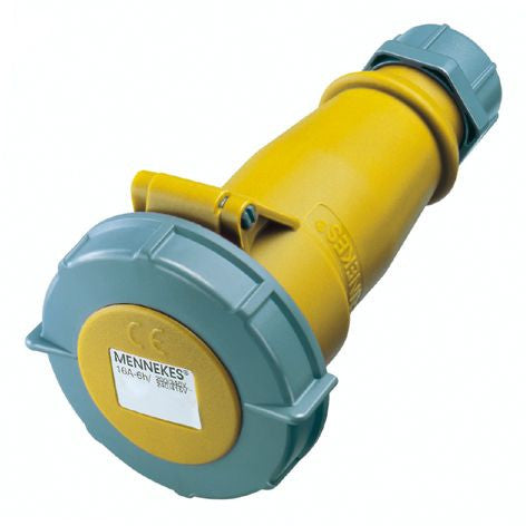 Mennekes 539 - Yellow 110V 16A 3 Pole AM-TOP IP67 In-line Connector