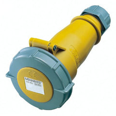 Mennekes 551 - Yellow 110V 32A 3 Pole AM-TOP IP67 In-line Connector