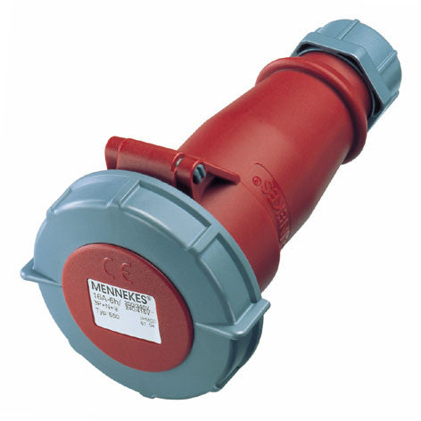 Mennekes 556 - Red 400v 32A 4 Pole AM-TOP IP67 In-line Connector
