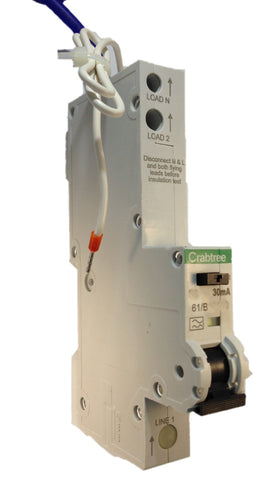 Crabtree Starbreaker  61/C11630 - 16A Single Pole (SP) Type C Curve  30mA  RCBO