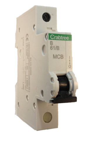 Crabtree Starbreaker  61/B10 - 10A Single Pole (SP) Type B Curve 6kA MCB