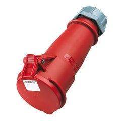 Mennekes 6 - Red 400v 32A 5 Pole AM-TOP IP44 In-line Connector