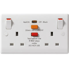 BG - 822RCD -  2 Gang 13 Amp RCD Socket White