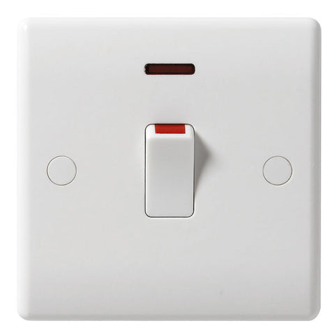 BG - 831 -  20 Amp Double Pole Switch With Neon White