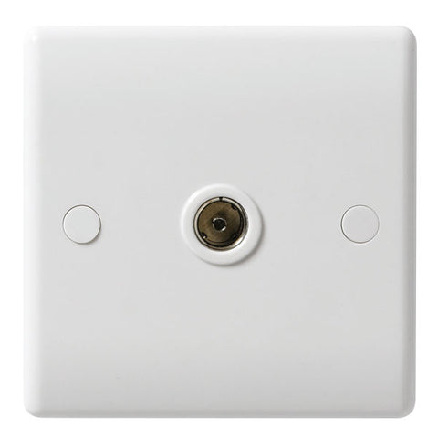 BG - 860 -  1 Gang Co-Axial Socket White