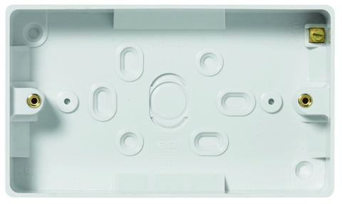 BG - 892 -  2 Gang Surface Box 32mm White