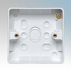 BG - 877 -  1 Gang Surface Box 50mm White