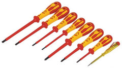CK Tools VDE 8 Piece Slotted/PZ Screwdriver Set - T49193