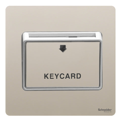 GU1412KWPN Ultimate screwless flat plate pearl nickel white insert 32A keycard switch