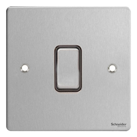 GU2210BSS Ultimate flat plate stainless steel black insert 20AX DP switch
