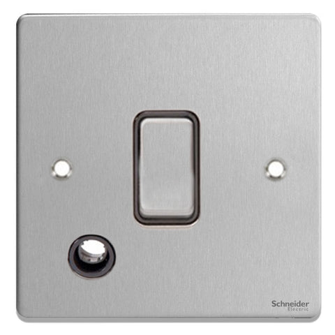 GU2513BBC Ultimate low profile brushed chrome black insert 20AX DP switch + flex outlet