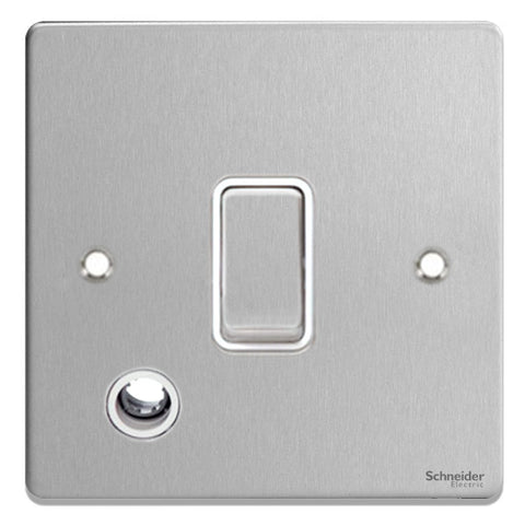 GU2513WBC Ultimate low profile brushed chrome white insert 20AX DP switch + flex outlet