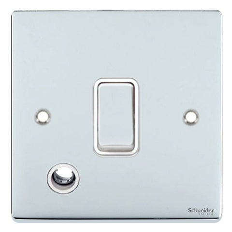GU2513WPC Ultimate low profile polished chrome white insert 20AX DP switch + flex outlet