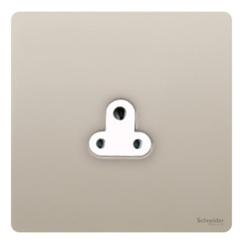 GU3470WPN Ultimate screwless flat plate pearl nickel white insert 1 gang 2A round pin unswitched socket