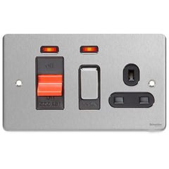 GU4501BBC Ultimate low profile brushed chrome black insert 45A cooker control unit + neon