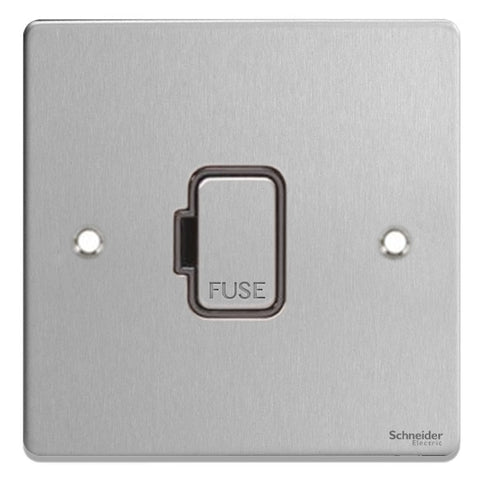 GU5500BBC Ultimate low profile brushed chrome black insert 13A unswitched fused connection unit